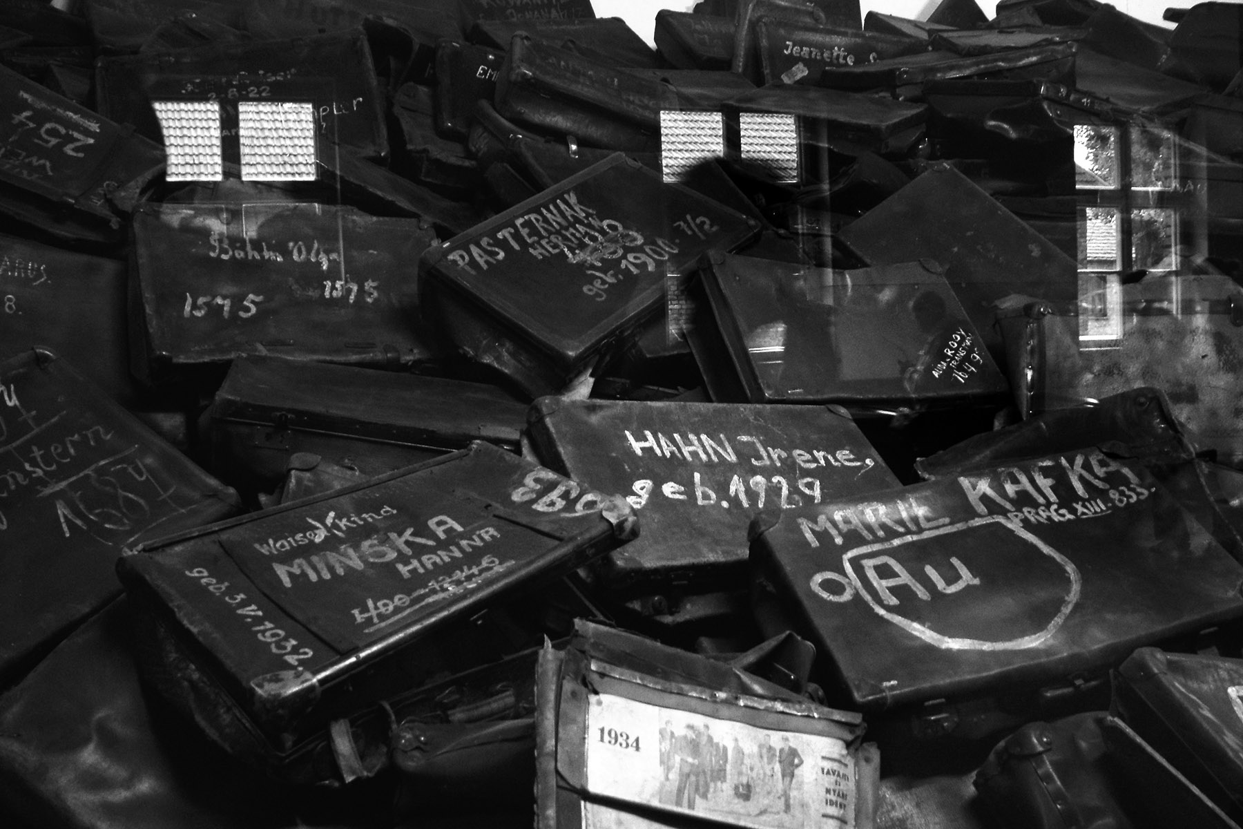 Auschwitz 1 – collection of suitcases